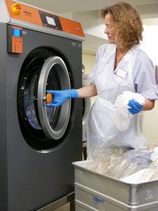 Wäsche und Aufbereitung von Reinigungstextilien