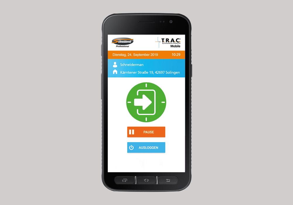 T.R.A.C.® Mobile für die Gebäudereinigung Ein Schritt in die Zukunft mit dermobilen Zeiterfassung