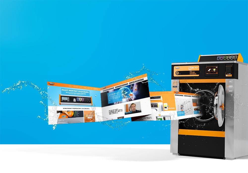 Homepage van Schneidereit met nieuw ontwerp en nieuwe functionaliteit